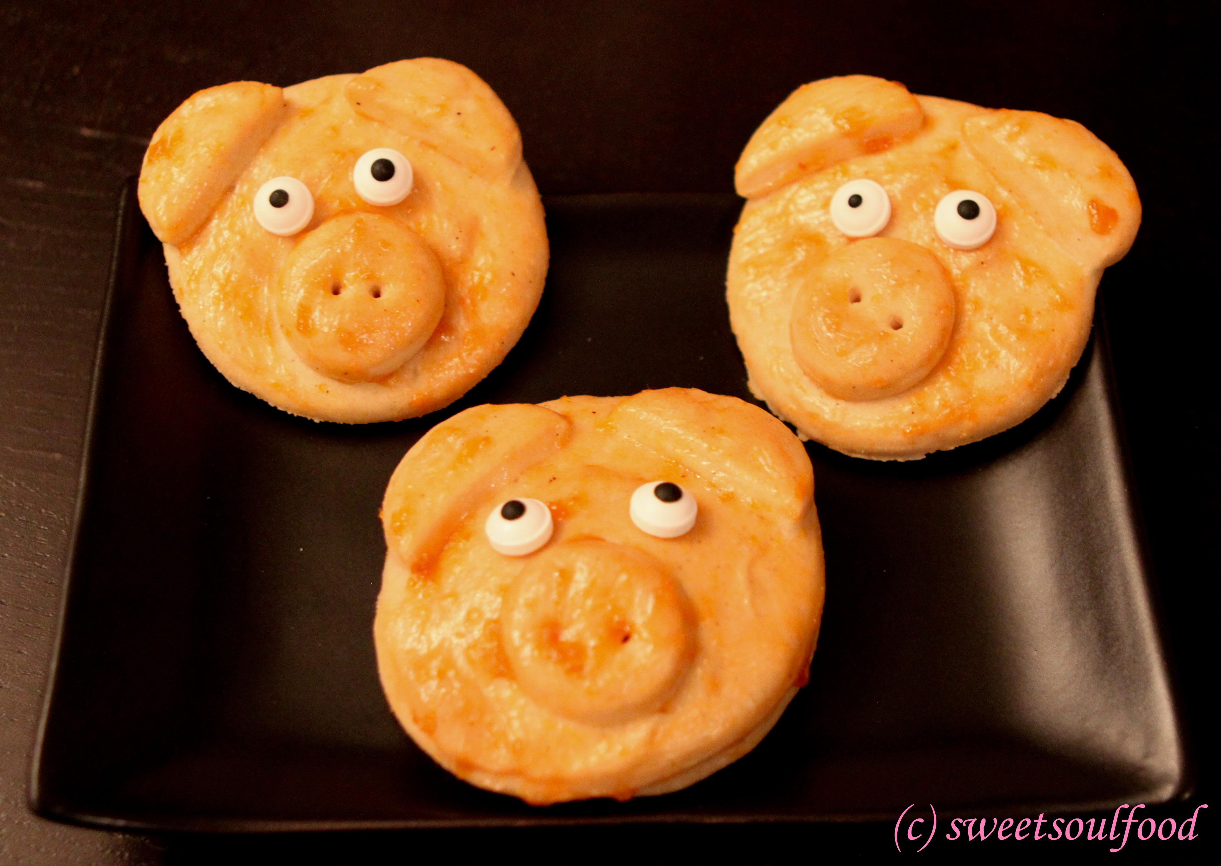 Süße Glücksschweine Vegan